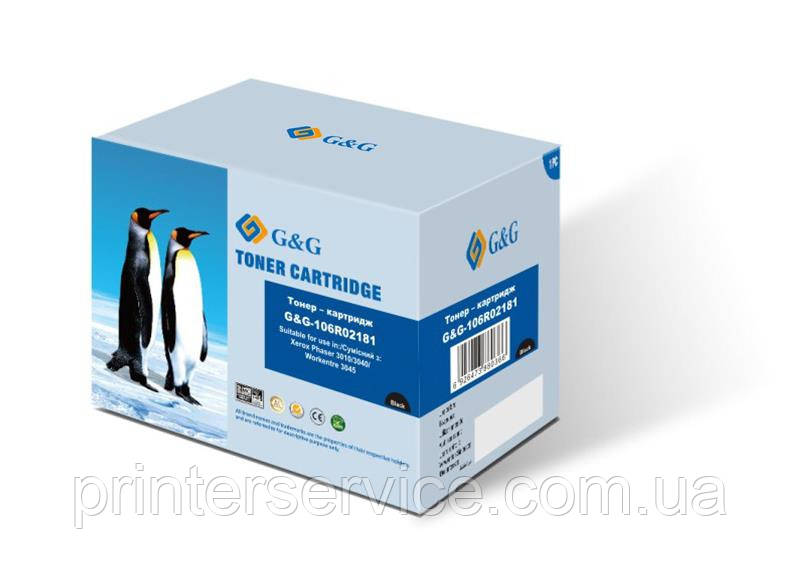 106r02181 аналог (совместимый картридж) для Xerox Phaser 3010 WC3045, G&G-106r02181 black