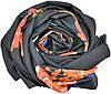 Женский шарф 017445 розы черный, фото 2