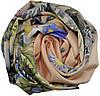 Женский шарф 017433 цветы бежевый, фото 2