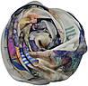 Женский шарф 017463 почтовая марка белый, фото 2