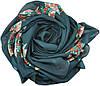 Женский платок 015570 цветочная поляна зеленый, фото 2