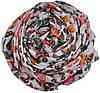 Женский шелковый шарф 017568 бабочки белый, фото 2