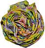 Женский шелковый шарф 017554 букет садовника желтый, фото 2