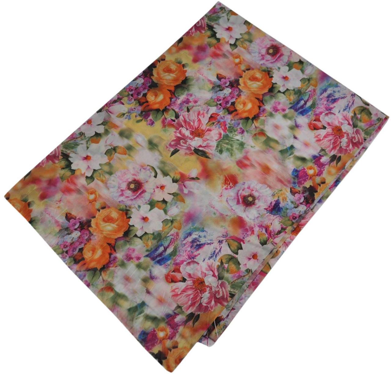 Женский шелковый шарф 017571 чайная роза белый