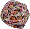 Женский шелковый шарф 017571 чайная роза белый, фото 2