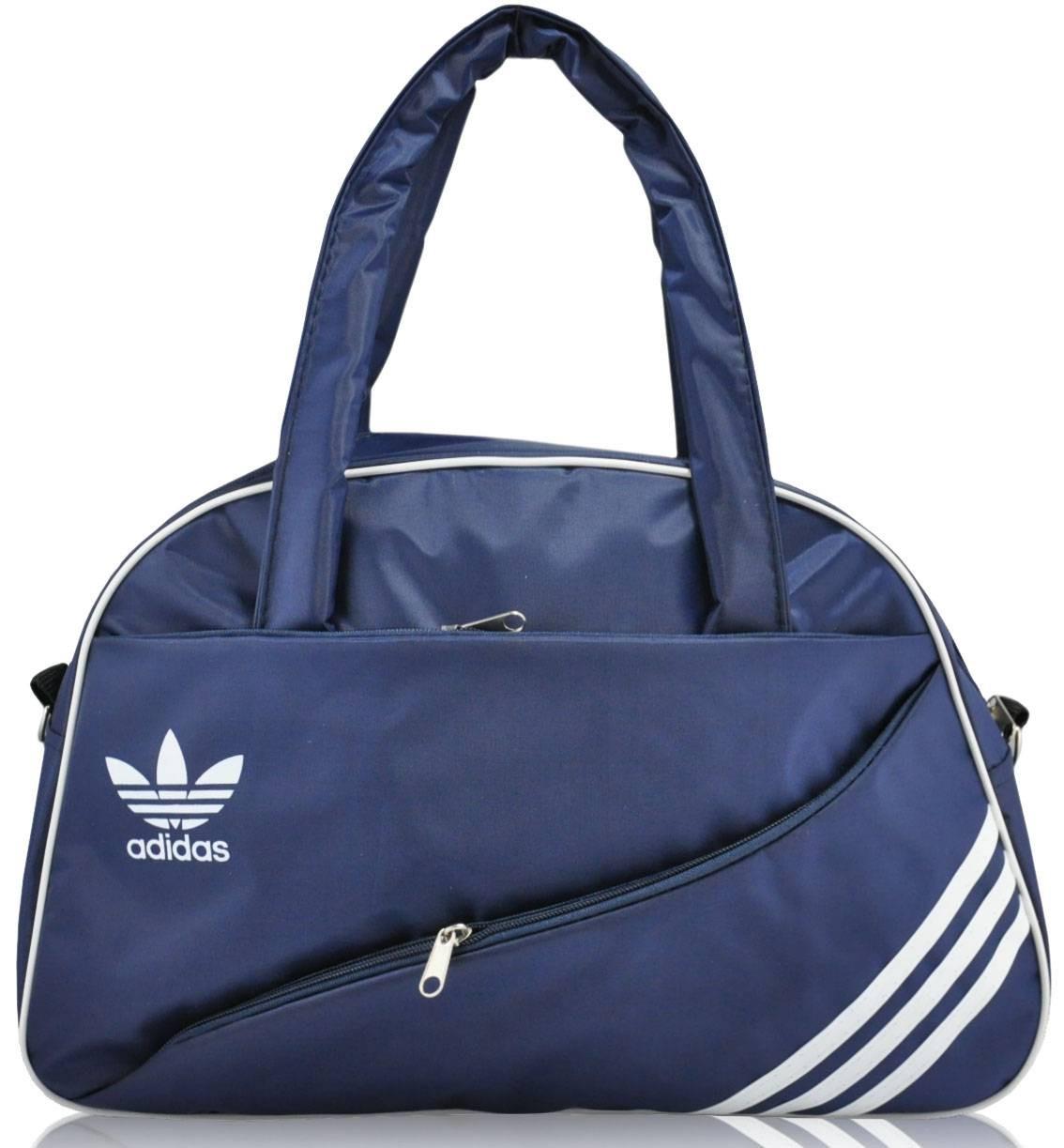 Спортивная сумка Adidas Diagonal синяя с белым реплика