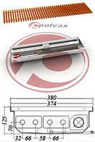 Внутрипольный конвектор POLVAX KVM 125 D