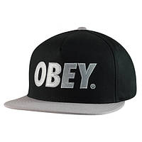 Кепка Obey Snapback Black-Grey