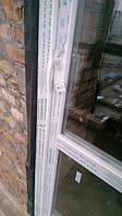 """Пластиковые двери salamander с двусторонней ручкой - фирма """"Окна Маркет"""" (098) 777-31-49"""