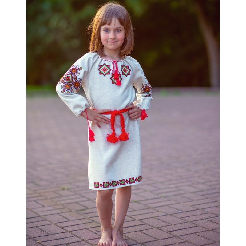 Вышитое платье для девочки купить