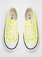 Кеды женские лимонного цвета