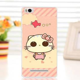 Силиконовый чехол для Xiaomi M4c / M4i накладка бампер с рисунком cute cat