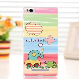 Силиконовый чехол для Xiaomi M4c / M4i накладка бампер с рисунком colorful