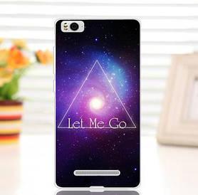 Силиконовый чехол для Xiaomi M4c / M4i накладка бампер с рисунком let me go