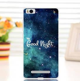 Силиконовый чехол для Xiaomi M4c / M4i накладка бампер с рисунком good night