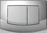 Панель смыва TECEambia рамка-хром глян., кл.- хром мат., фото 1