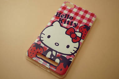 Силиконовый чехол для Xiaomi M4c / M4i накладка бампер с рисунком kitty