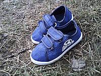 Кеды детские для мальчика джинсовые р-ры 25 -30, фото 1