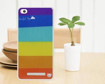 Силиконовый чехол для Xiaomi M4c / M4i накладка бампер с рисунком радужный день