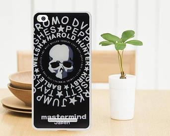 Силиконовый чехол для Xiaomi M4c / M4i накладка бампер с рисунком череп