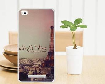 Силиконовый чехол для Xiaomi M4c / M4i накладка бампер с рисунком Париж