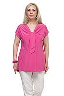Женская блузка большого размера Галстук чайная роза