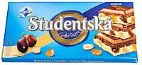 Темно-белый шоколад с изюмом, арахисом и мармеладом Studentska 180г