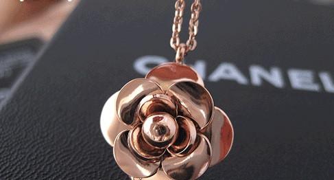 Кулон CHANEL РОЗА ювелирная бижутерия золото 14К