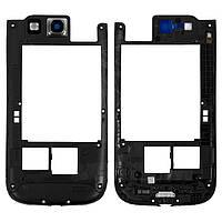 Средняя часть корпуса для Samsung I9300 Galaxy S3, полная, черный, оригинал