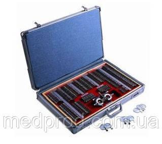 Набор офтальмологических пробных очковых линз на 266 линз с универсальной металлической оправой