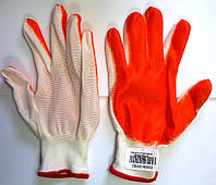 Перчатки стрейчевые обрезиненные