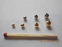 Бусинки-подшипники для приманок (пустотелые) №1 (никель)