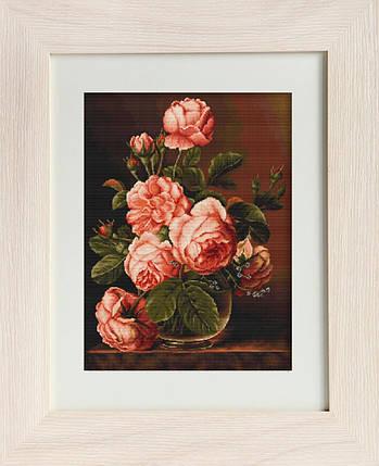 """Набор для вышивания нитками  """"Ваза с розами"""", фото 2"""