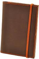 Практичная обложка для паспорта + блокнотик BlankNote BN-OP-2-o-a орех-апельсин