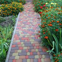 Тротуарная плитка 40 мм, цветная