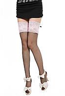 Сексуальные Чулки Beileisi сеточка с розовым кружевом