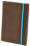 Кожаная обложка для паспорта + блокнотик BlankNote BN-OP-2-o-t орех-тиффани