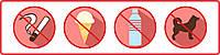 """Наклейка """"Запрещающие знаки в общественных местах"""""""