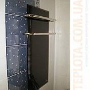Электрический полотенцесушитель (стеклянная панель) КРИСТАЛЛ 500x900 черный (140 W), Украина
