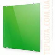 Стекляный дизайн-радиатор ТЕПЛОЛЮКС  FLORA (60 х 60 зеленый)
