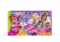 Пазлы магнитные Девочки на машине
