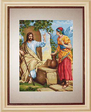 """Набор для вышивания нитками  """"Иисус и самаритянка"""", фото 2"""