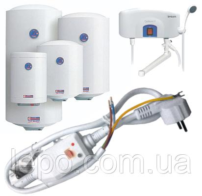 Шнур (кабель) с УЗО для водонагревателя (бойлера) 16А