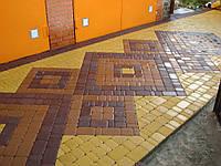 Тротуарная Плитка Желтая, на белом цементе