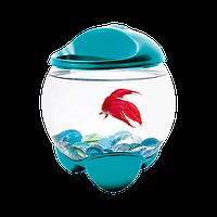 Аквариум Тетра Бетта Баббл  для петушка, 1.8л, бирюзовый