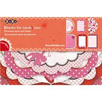 """Заготовка для открыток """"Love"""" 10.2*15.3см  ZB.18200-AF"""