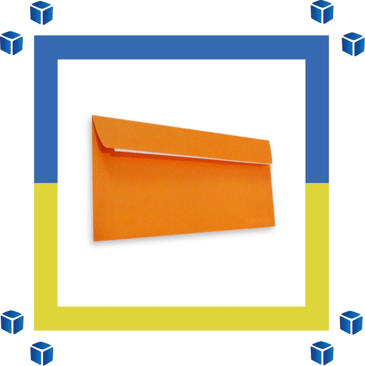Конверт Е65 (DL) (110х220) скл, оранжевый (0+0)
