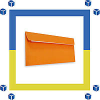 Конверты Е65 (DL) (110х220) скл, оранжевый (0+0)