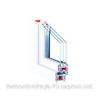 Металлопластиковое окно КВЕ76AD