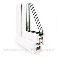Металлопластиковое окно REHAU ECOSOL-DESIGN 70